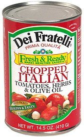 chopped italian tomatoes, herbs & olive oil Dei Fratelli Nutrition info