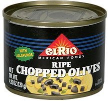 chopped olives ripe, with jalapenos El Rio Nutrition info