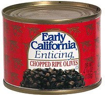 chopped ripe olives Early California Nutrition info