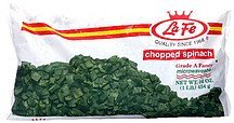 chopped spinach La Fe Nutrition info
