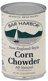 chowder condensed, new england corn Bar Harbor Nutrition info