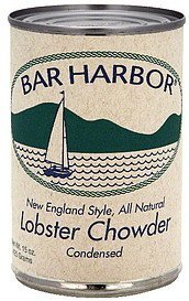 chowder condensed, new england style lobster Bar Harbor Nutrition info