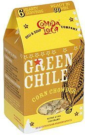 chowder green chile corn Comida Loca Nutrition info