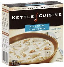 chowder new england clam Kettle Cuisine Nutrition info