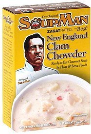 chowder new england clam SoupMan Nutrition info