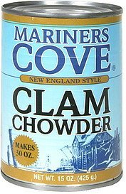 chowder new england style clam Mariners Cove Nutrition info