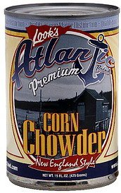 chowder new england style corn Atlantic Nutrition info