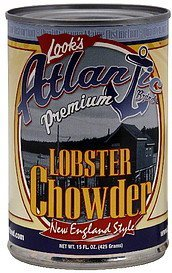 chowder new england style lobster Atlantic Nutrition info