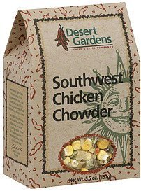 chowder southwest chicken Desert Gardens Nutrition info