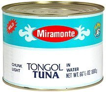 chunk light tongol tuna in water Miramonte Nutrition info