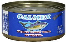 chunk light tuna in water Calmex Nutrition info