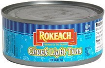 chunk light tuna in water Rokeach Nutrition info