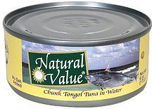 chunk tongol tuna in water Natural Value Nutrition info