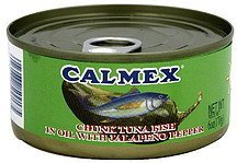 chunk tuna fish in oil with jalapeno pepper Calmex Nutrition info