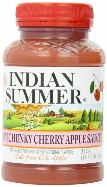 chunky cherry applesauce Indian Summer Nutrition info