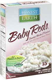 chunky mashed potatoes baby reds Honest Earth Nutrition info