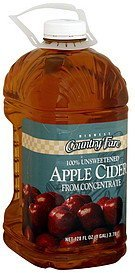 cider unsweetened apple Midwest Country Fare Nutrition info
