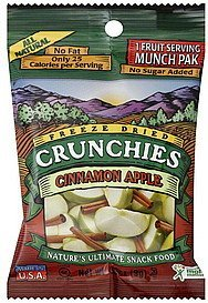 cinnamon apple freeze dried Crunchies Nutrition info