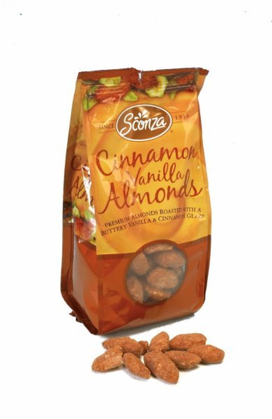 cinnamon vanilla almonds Sconza Nutrition info