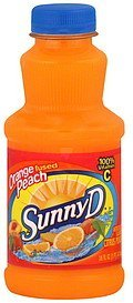 citrus punch orange fused peach Sunny D Nutrition info