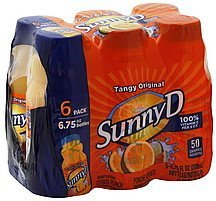 citrus punch tangy original, orange flavored Sunny D Nutrition info