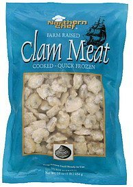 clam meat cooked Northern Chef Nutrition info