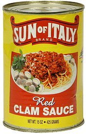 clam sauce red Sun of Italy Nutrition info