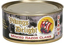 clams minced razor Vikings Delight Nutrition info