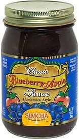 classic blueberry apple sauce homemade style Simcha Nutrition info
