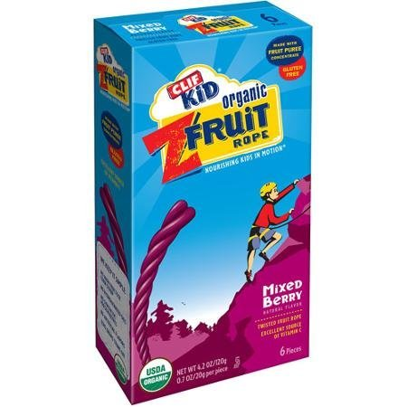clif kid mixed berry organic twisted fruit real fruit rope Clif Bar Nutrition info