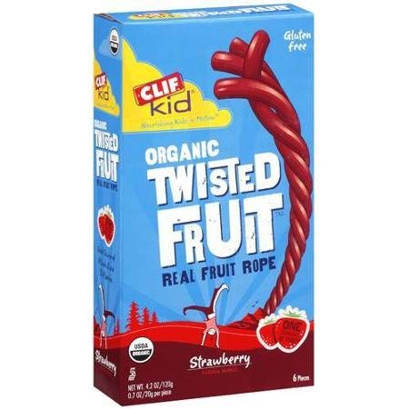 clif kid strawberry organic twisted fruit real fruit rope Clif Bar Nutrition info