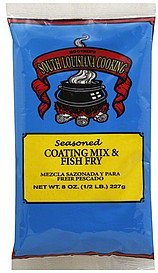 coating mix & fish fry seasoned South Louisiana Cooking Nutrition info