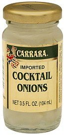 cocktail onions imported Carrara Nutrition info