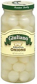 cocktail onions Giuliano Nutrition info