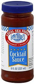 cocktail sauce Legal Sea Foods Nutrition info