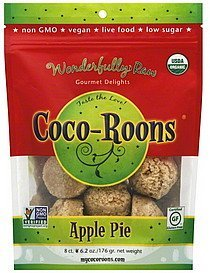 coco-roons apple pie Wonderfully Raw Nutrition info