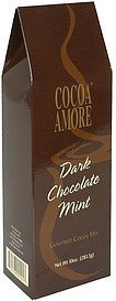 cocoa mix gourmet, dark chocolate mint Cocoa Amore Nutrition info