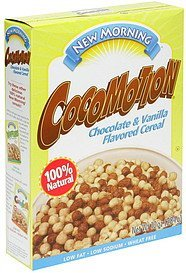 cocomotion chocolate & vanilla flavored cereal New Morning Nutrition info
