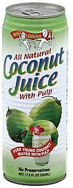 coconut juice with pulp Amy & Brian Nutrition info