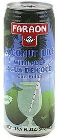 coconut juice with pulp Faraon Nutrition info