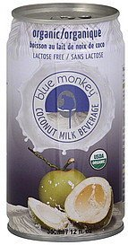 coconut milk beverage organic Blue Monkey Nutrition info
