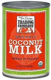 coconut milk organic The Food Emporium Trading Company Nutrition info