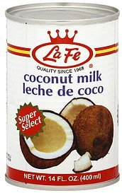 coconut milk La Fe Nutrition info