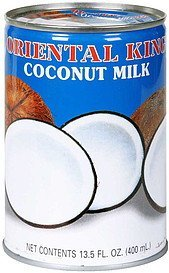 coconut milk Oriental King Nutrition info