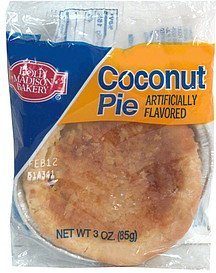 coconut pie Dolly Madison Bakery Nutrition info