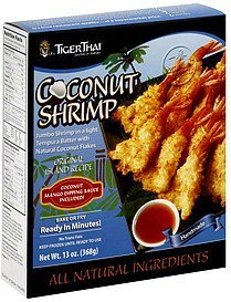 coconut shrimp Tiger Thai Nutrition info