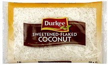 coconut sweetened-flaked Durkee Nutrition info