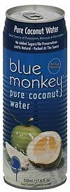 coconut water pure, coconuts gone wild Blue Monkey Nutrition info