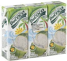 coconut water sterilized DuCoco Nutrition info