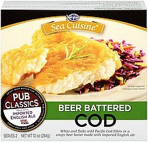 cod beer battered Sea Cuisine Nutrition info